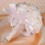 Свадебный букет, белый 27*30*24см Свадебные аксессуары