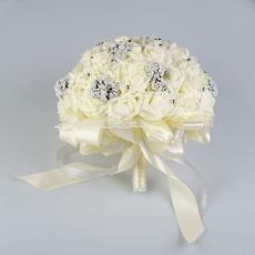 Букет-дублёр для невесты «Французское кружево» из силиконовых роз, белый Свадебные аксессуары
