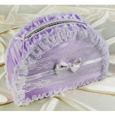 Коробка для денег ручной работы «Чудные мгновения», сиреневая Свадебные аксессуары