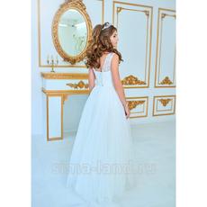 """Свадебное платье """"Зареслава"""", верх из кружева с круглым вырезом, корсет, фатиновая юбка, р. 42-44 Свадебные аксессуары"""