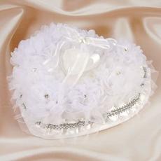 Подушечка для колец в виде сердца, белая 21*11*12см Свадебные аксессуары