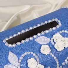 Коробка для денег «Ирэн», синяя, неразборная Свадебные аксессуары