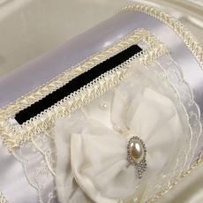 Семейный банк сундучок с бантом айвори Свадебные аксессуары
