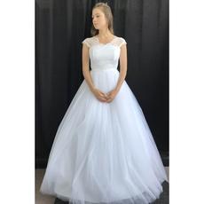 """Свадебное платье """"Ирида"""" кружевной топ с лямочками шантильи, фатиновая юбка, корсет 42-44 Свадебные аксессуары"""