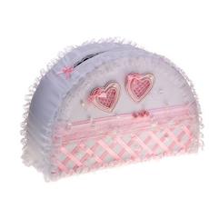 Коробка для денег ручной работы «Райская жизнь», бело-розовая Свадебные аксессуары