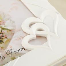 """Книга пожеланий """"Два сердца"""", полистоун 20*1*25см. Свадебные аксессуары"""