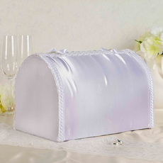 Семейный банк сундучок с бантом мята Свадебные аксессуары