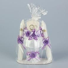Набор свечей «Семейный очаг», 3 шт., сиреневый Свадебные аксессуары