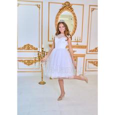 """Свадебное платье """"Джона"""" белое,кружевной корсет,пышная фатин.юбка+фатин с микропаеткой 42-44 28150 Свадебные аксессуары"""