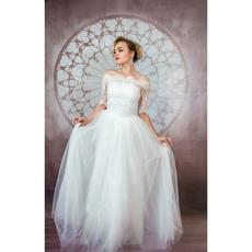 """Свадебное платье """"Элен Бенуа"""" с балеро без шлейфа, атласный корсер, цвет белый 42-44 Свадебные аксессуары"""