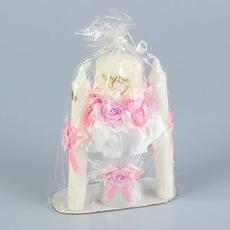 Набор свечей «Семейный очаг», 3 шт., розовый Свадебные аксессуары